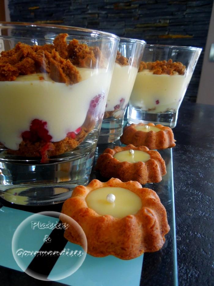 Verrine de spéculos, crème citron et crème pâtissiere garni de framboises...Rien que ça ! dans Crèmes dscn1572