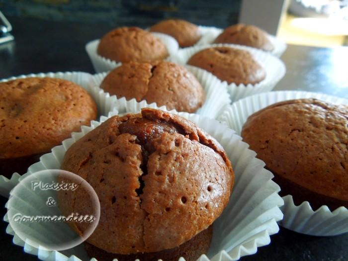 Soufflés au chocolat coeur chocolat blanc (ou noix, pralinoise...) dans Empreintes Mini-muffins dscn1693